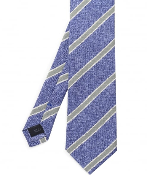 Stenstroms Diagonal Stripe Silk Tie