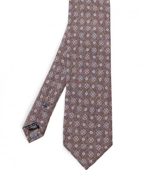 Stenstroms Diamond Print Silk Tie