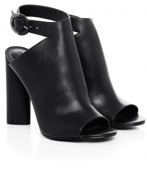 Kendall and Kylie Gigi Sling Back Leather Heels