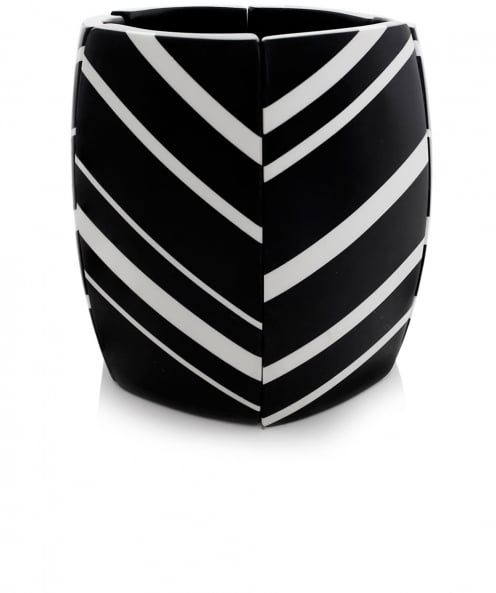 Monies Striped Ebony Cuff Bracelet