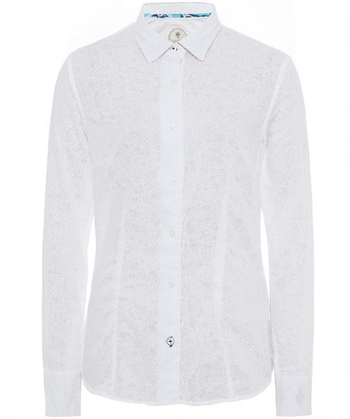 Ganesh Embroidered Undercollar Print Shirt