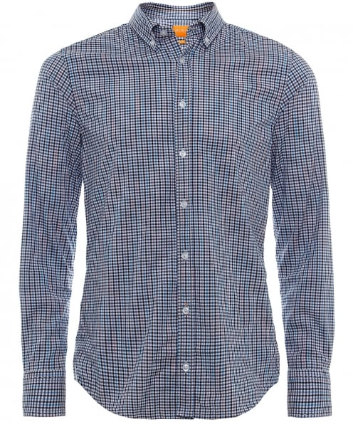 BOSS Orange Slim Fit Epreppy Check Shirt