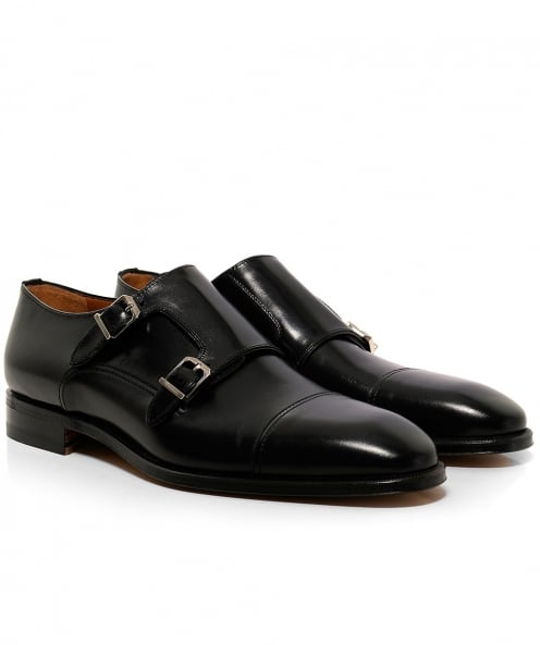 Stemar Leather Modena Double Monk Strap Shoes