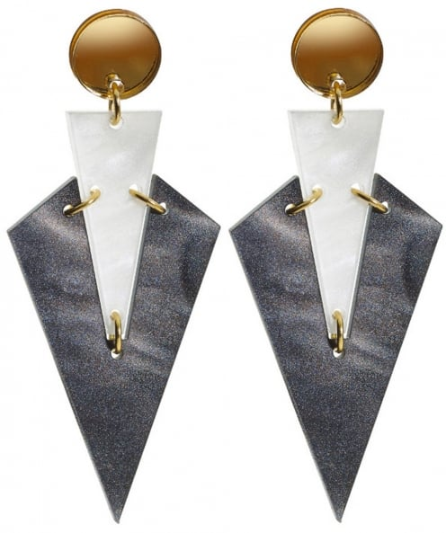 Toolally Art Deco Droplet Earrings