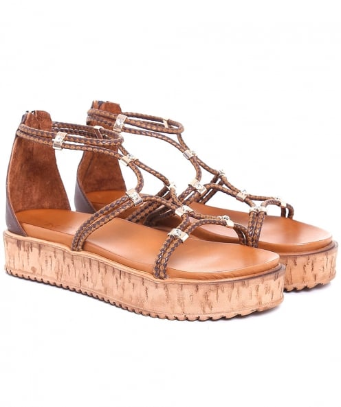 Inuovo Braided Diamante Sandals