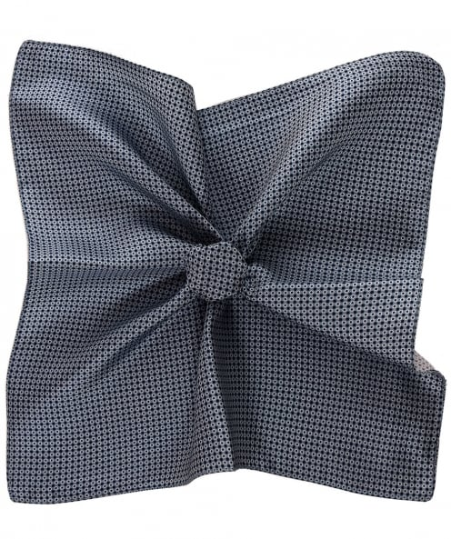 BOSS Patterned Silk Pocket Square