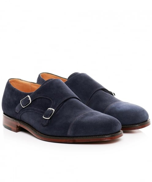 Loake Suede Cannon Double Monk Strap Shoes