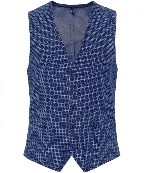 LBM 1911 Cotton Patterned Waistcoat