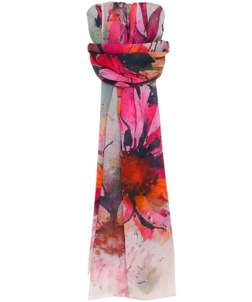 SK Overseas Washed Floral Print Scarf