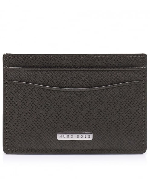 BOSS Leather Signature_S Card Case