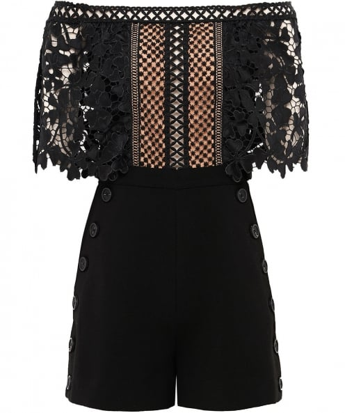 Self-Portrait Off Shoulder Playsuit