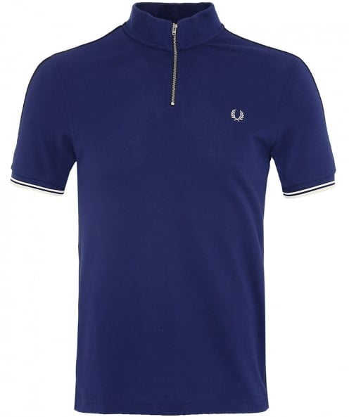 Fred Perry Zip Neck Pique Polo Shirt