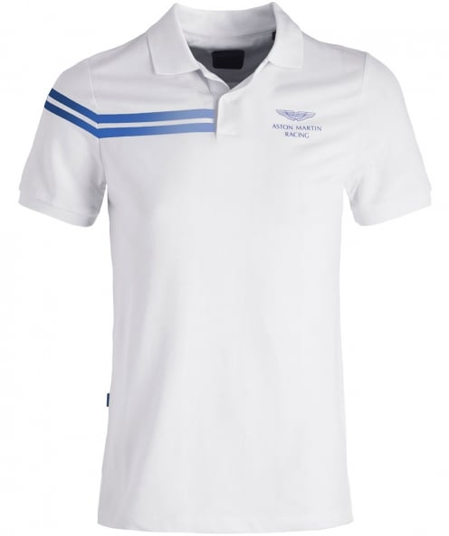 Hackett Reflective Stripe AMR Polo Shirt