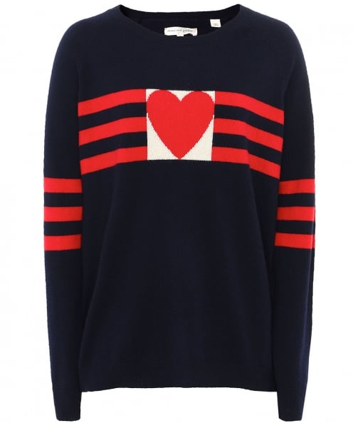 Chinti and Parker Cashmere Love Heart Jumper