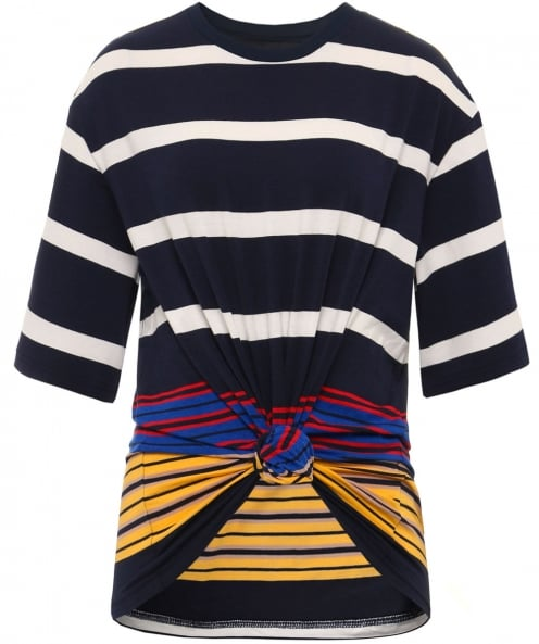 Kendall and Kylie Stripe Tie Front Top