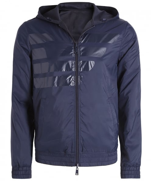 Armani Jeans Reversible Hooded Blouson Jacket