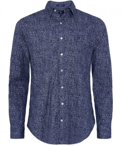 Gant Regular Fit Tweed Print Shirt