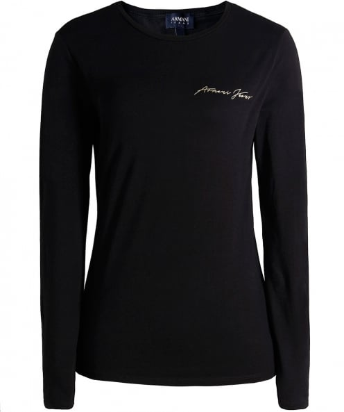 Armani Jeans Long Sleeve Logo Top