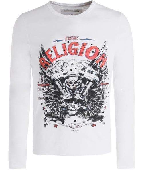 True Religion Long Sleeve Motorblock T-Shirt