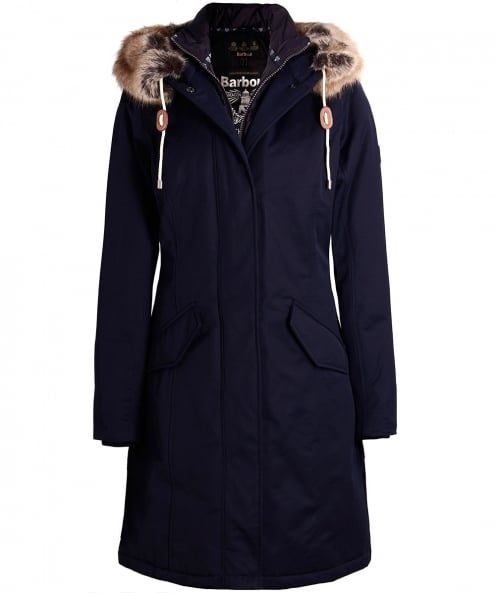 Barbour Faux Fur Filey Hooded Parka