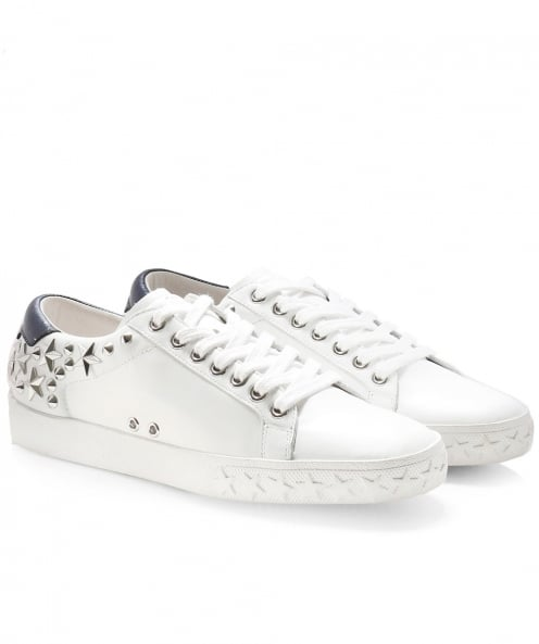 Ash Leather Dazed Studded Trainers