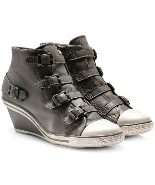 Ash Leather Genial Wedge Trainers