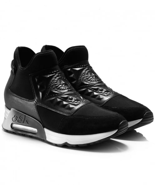 Ash Neoprene Trainers