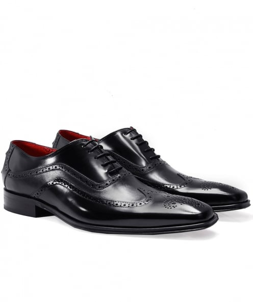 Jeffery-West Leather Wing-Tip Oxford Shoes