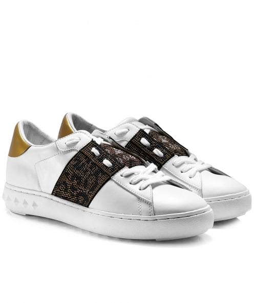 Ash Leather Panthera Trainers