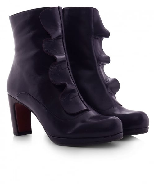 Chie Mihara Leather Picoli Frill Boots