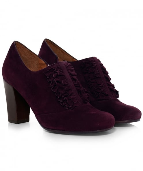 Chie Mihara Suede Arene Frill Heels