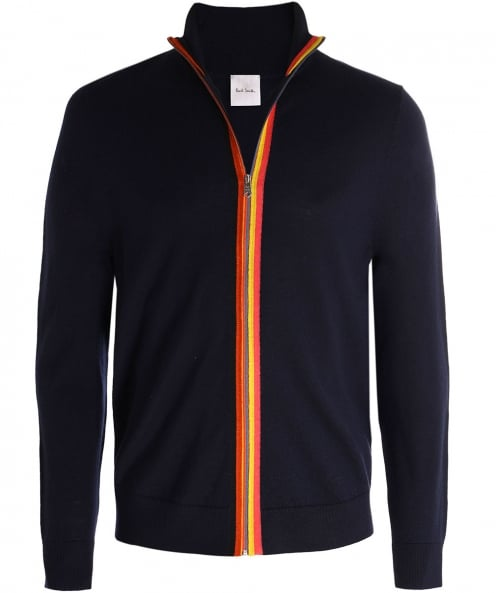 PS by Paul Smith Merino Wool Zip-Through Cardigan
