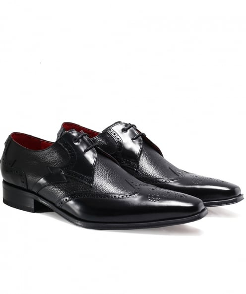 Jeffery-West Leather Yardbird Wingtip Shoes