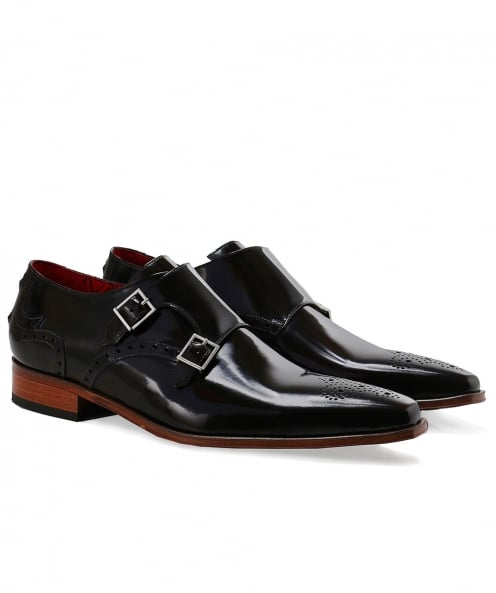 Jeffery-West Patent Leather Double Monk Strap Shoes