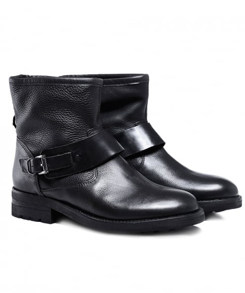 H by Hudson Leather Mac Biker Boots