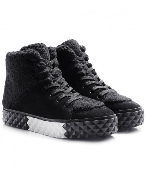 Kendall and Kylie Shoes Suede Effect Rebel High Top Trainers