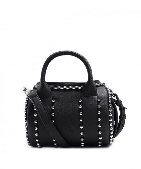 Alexander Wang Leather Mini Rockie Ball Stud Handbag