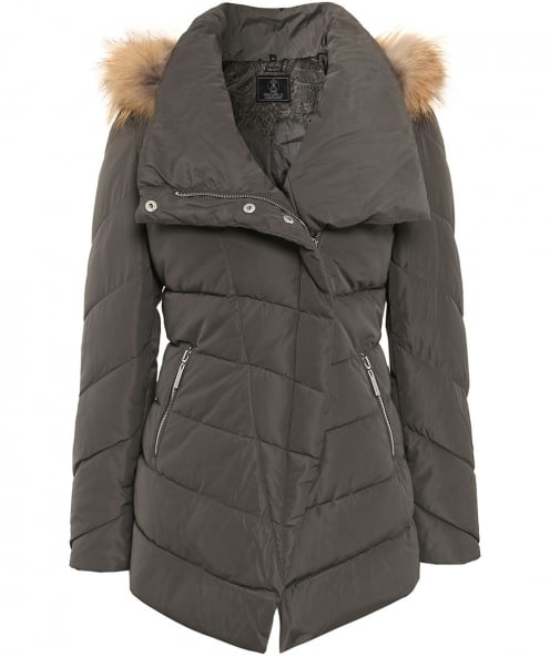 Rino and Pelle Fur Trim Calva Puffa Jacket