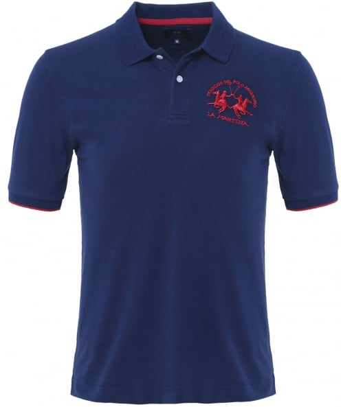 La Martina Plain Polo Shirt