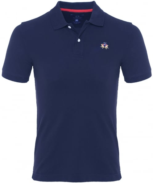 La Martina Slim Fit Pique Polo Shirt