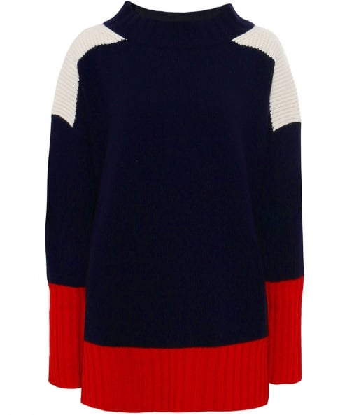 Chinti and Parker Cashmere Rib Detail Jumper