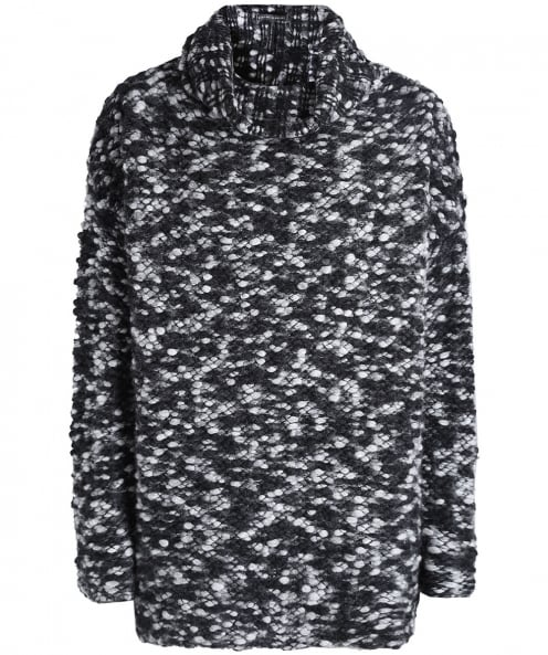 Sarah Pacini Merino Wool Oversized Bobble Jumper