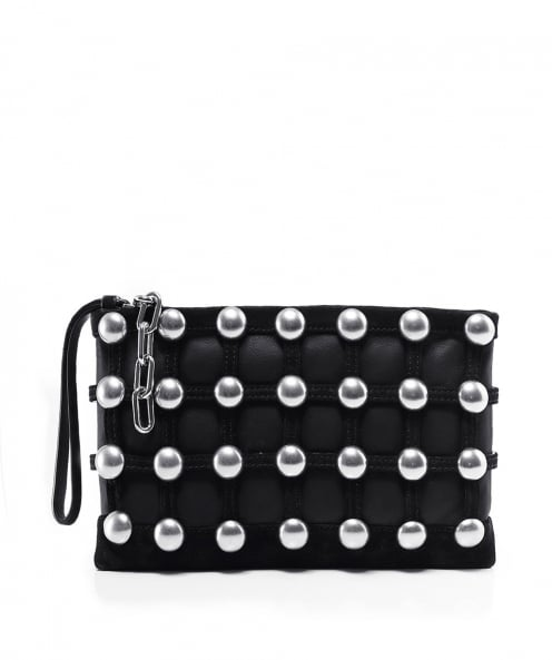 Alexander Wang Roxy Studded Cage Clutch Bag