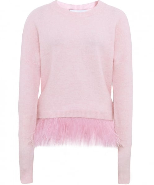 in.no Merino Wool Icelyn Feather Trim Jumper