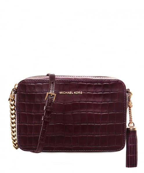 MICHAEL Michael Kors Embossed Leather Ginny Camera Bag