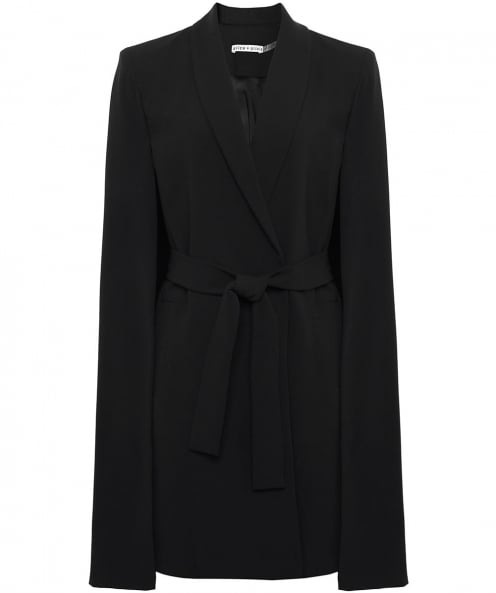 Alice and Olivia McGuire Long Belted Cape Coat