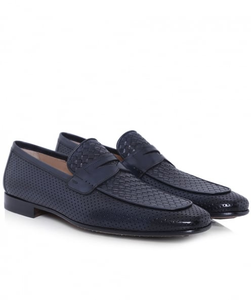 Magnanni Woven Leather Loafers