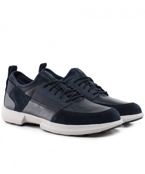 Geox Nappa Leather & Suede Traccia Trainers