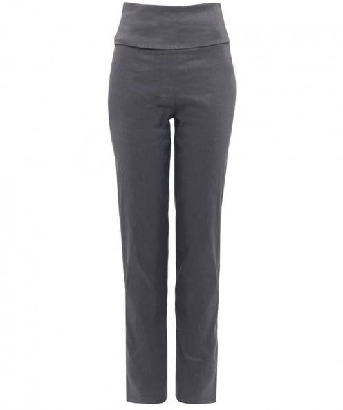 Crea Concept Stretch Fit Linen Foldover Trousers