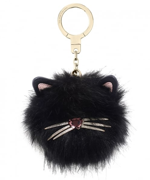 Kate Spade New York Cat Pouf Keyring